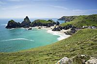 Kynance Cove near Lizard Point, Cornwall, England