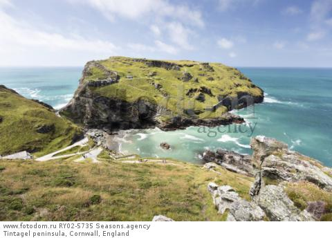 Tintagel peninsula, Cornwall, England