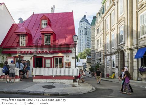 A restaurant in Quebec, Canada