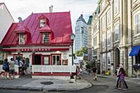 A restaurant in Quebec, Canada
