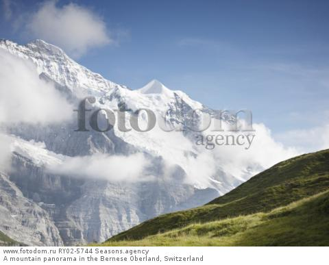 A mountain panorama in the Bernese Oberland, Switzerland