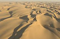 An aerial view of the Namibian desert, Namibia, Af