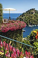 The terrace of the legendary 'Hotel Splendido' in
