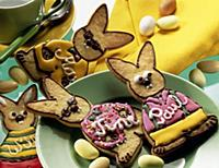 Easter decoration with colorful bunny shaped short