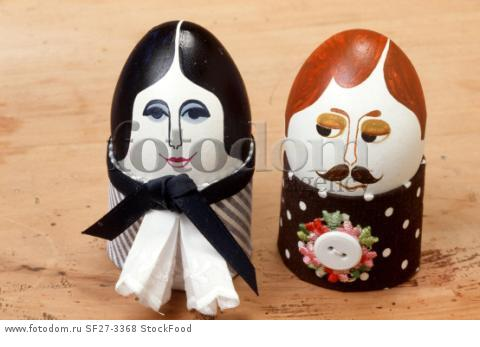 Amusing painted Easter eggs (Man and wife)