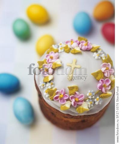 Ukrainian Paska (traditional Easter cake)