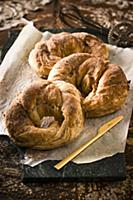 Cinnamon bagoissants (cross between a bagel and a