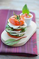 Vegetarian tomato burger