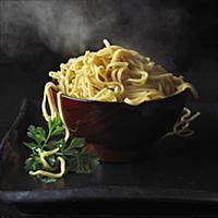 Steamed Asian noodles