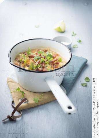 Lentil soup with fenugreek