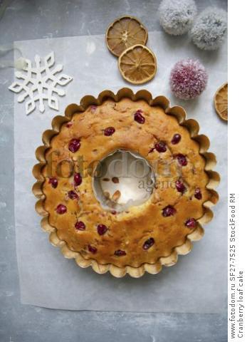 Cranberry loaf cake