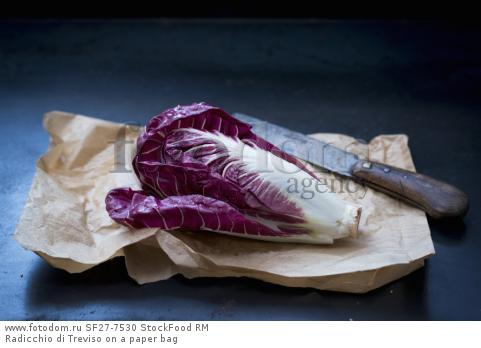 Radicchio di Treviso on a paper bag