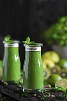 Homemade green smoothies