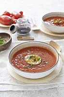 Tomato pepper salmorejo soup