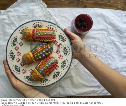 Ecuatorian guaguas de pan y colada morada, Figuras de pan ecuatorianas (Day of the Deceased)