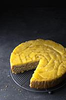 Glutenfree pineapple and ginger upside down cake