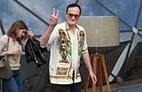 Квентин Тарантино во время фотоколла, посвященного премьере фильма 'Однажды... в Голливуде'. Москва, Россия.