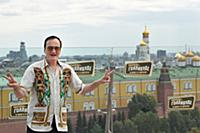 Американский режиссер Квентин Тарантино во время ф