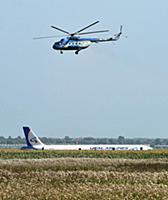Место жесткой посадки самолета Airbus A321 авиаком