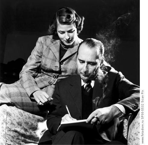 Arkiv 1950  Italian film dirctor Roberto Rossellini (1906-1977) and wife  of Ingrid Bergman  Foto: Lennart Nilsson Kod: 3054 COPYRIGHT SCANPIX SWEDEN