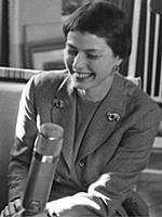 STOCKHOLM 1955-03-21 Ingrid Bergman during an inte
