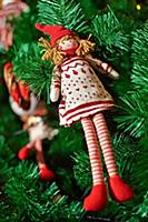 Doll on Christmas tree