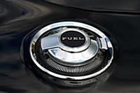 The fuel cap of vintage cars