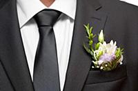 Tie of the groom