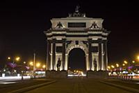 The arc de Triomphe are arranged at the entrance t