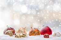 Праздничный рождественский фон, крупный план.