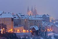 Район Градчаны (Hradcany) в Праге (Prague). Город