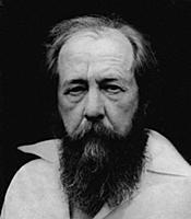 Русский писатель, публицист и общественный деятель Александр Солженицын