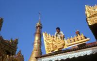 Золото для Будды, Мьянма, 2009. На фото: новый зол