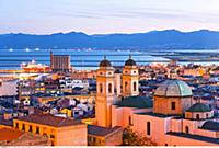 ITALY / Sardinia / ( Sueden ) / Cagliari / view fr