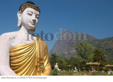 MYANMAR / Kayin State / Hpa-an / Lumbini Park with 1121 Buddha images at the foot of the Zwegabin mountain 