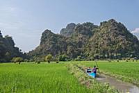 MYANMAR / Kayin State / Hpa-an / Narrow channel th