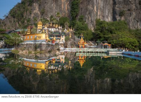 MYANMAR / Kayin State / Hpa-an / Bayin Nyi monastery with same-named cave is situated between Hpa-an and Thaton. Visitors can have a bath in hot springs.В© Mario Weigt / Anzenberger