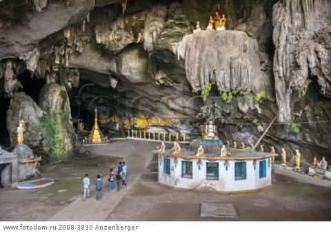 MYANMAR / Kayin State / Hpa-an / Saddar Cave housed a lot of Buddha statues, mural reliefs and stupasВ© Mario Weigt / Anzenberger