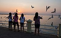 MYANMAR / Mon State / Mawlamyaing / At sunset, loc