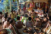 MYANMAR / Mon State / Mawlamyaing / The Agni puja,