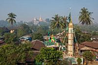 MYANMAR / Mon State / Mawlamyaing / Cityscape with