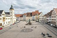 GERMANY / Saxony / Freiberg / The Obermarkt with t