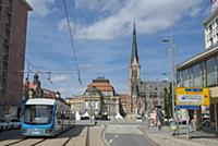 GERMANY / Saxony / Chemnitz / The Theaterplatz, a