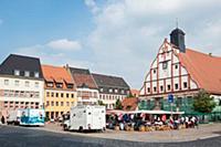 GERMANY / Saxony / Grimma / Historic city hall in