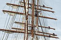 GERMANY / Bremerhaven / Sailors on the sailing shi