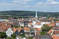 GERMANY / Lower Saxony / Hamelin / View over the o