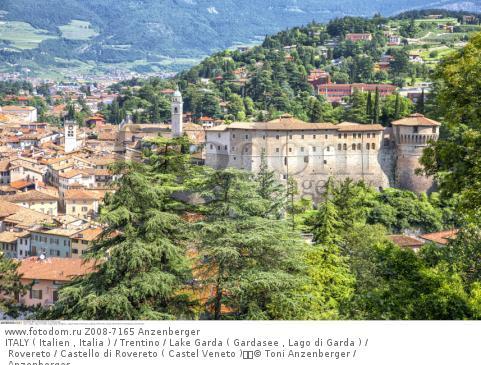 ITALY ( Italien , Italia ) / Trentino / Lake Garda ( Gardasee , Lago di Garda ) / Rovereto / Castello di Rovereto ( Castel Veneto )  © Toni Anzenberger / Anzenberger