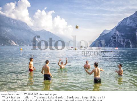 ITALY ( Italien , Italia ) / Trentino / Lake Garda ( Gardasee , Lago di Garda ) / Riva del Garda / the Miralago beach  © Toni Anzenberger / Anzenberger