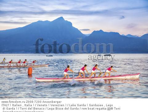 ITALY ( Italien , Italia ) / Veneto ( Venezien ) / Lake Garda ( Gardasee , Lago di Garda ) / Torri del Benaco / Lega Bisse del Garda / row boat regatta   © Toni Anzenberger / Anzenberger