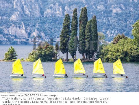 ITALY ( Italien , Italia ) / Veneto ( Venezien ) / Lake Garda ( Gardasee , Lago di Garda ) / Malcesine / Localitа Val di Sogno / sailing   © Toni Anzenberger / Anzenberger
